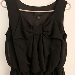 AB Studio sleeveless black dress with a bow small